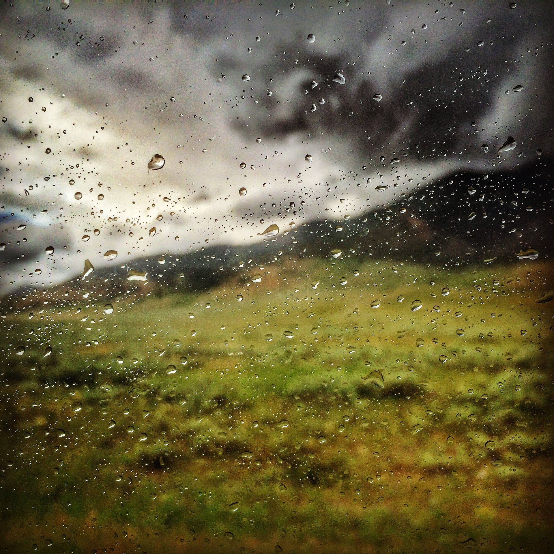 rain on window