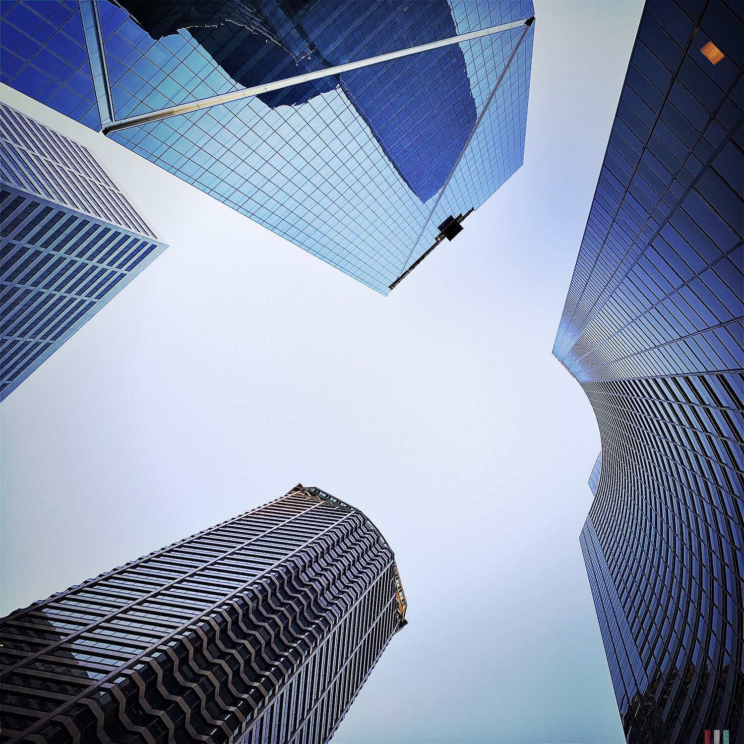 sky high, skyscrapers, buildings, architecture, downtown, glass and steel, look up