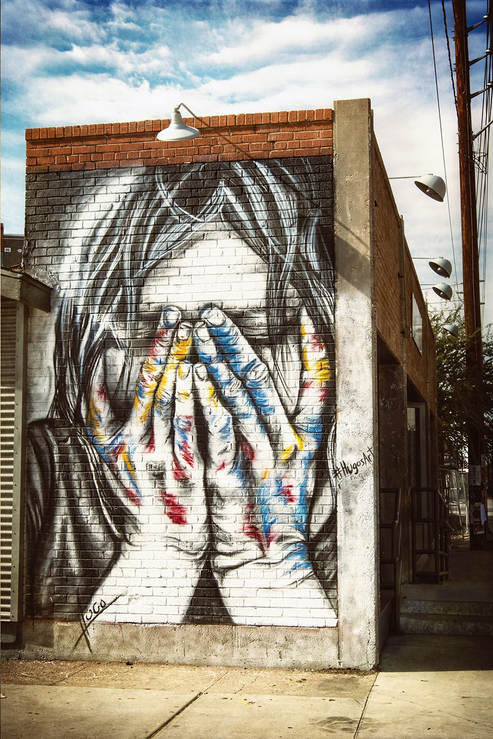 graffiti, girl, crying, street art, urban art, streets, downtown